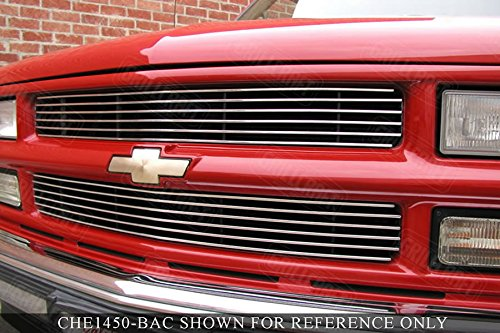 - GrillCraft CHE1450-BAO BG Series Polished Aluminum Upper 2pc Billet Grill Grille Insert for Chevy Silverado Suburban Tahoe