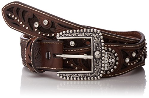 - Ariat Women's Filagree Scalop Circle Concho Belt, Brown, Small