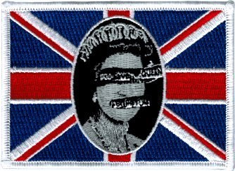 bc464f8acf Image Unavailable. Image not available for. Color  Sex Pistols - God Save  The Queen Flag - Embroidered Sew or Iron on Patch
