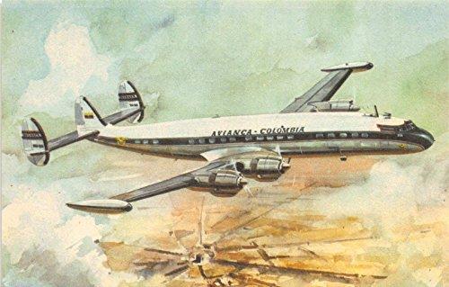 (Postcard Avianco-Columbia Lockheed Super Constellation L-1049-G Airplane~116127)