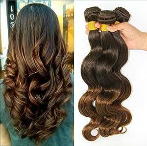 Amazon.com: Wigsforyou@Brazilian Human Hair Ombre Hair