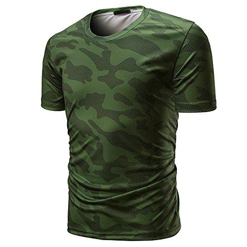 Chemisier Malloom Casual Pullover shirt Haut O Neck Multicolore04 Longue Camouflage Imprimé T AOTqRrWBA