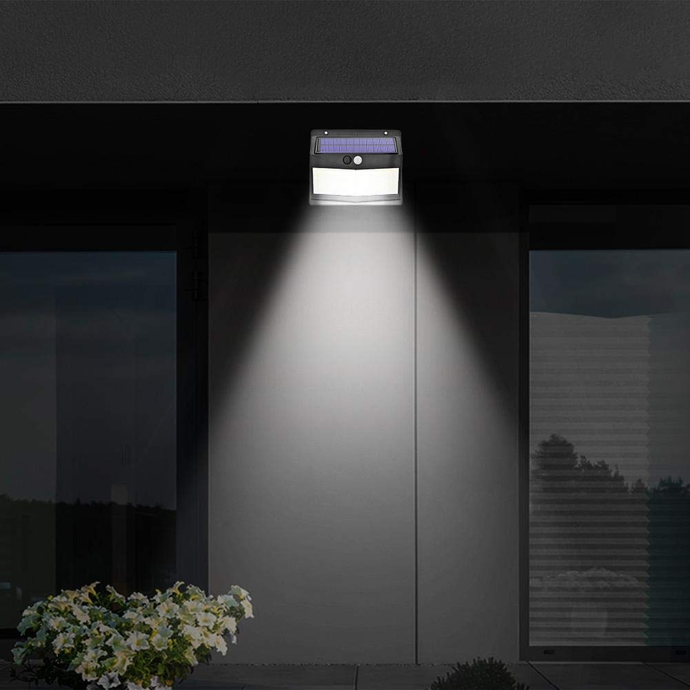 akaddy 100LED Solar PIR Motion Sensor Wall Light Outdoor Waterproof Garden Lamp