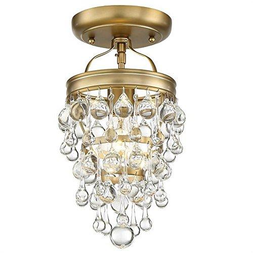 Crystorama Mini Chandelier Calypso 1 Light, Vibrant Gold ()