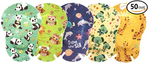 Egool Eye Patches for Kids, Treatment of Lazy Eye (Amblyopia), 5 Cute Animal Patterns, 50 Pack Individually Wrapped, Regular Size for Boys and Girls