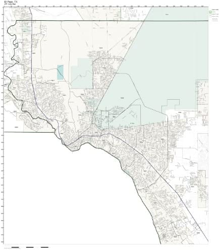 Map El Paso Texas Amazon.com: Working Maps Zip Code Wall Map of El Paso, TX Zip Code