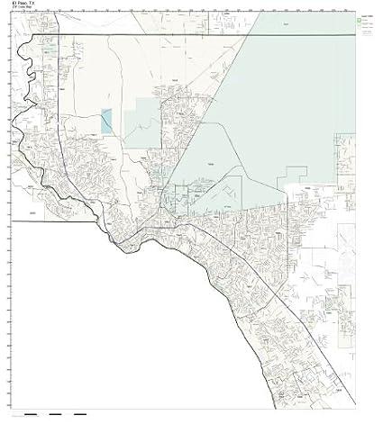 Amazon.com: ZIP Code Wall Map of El Paso, TX ZIP Code Map Laminated ...
