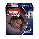 Baby : HUGGIES OverNites Diapers, Size 5, 50 ct., BIG PACK Overnight Diapers (Packaging May Vary)