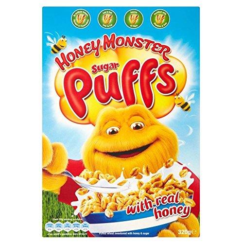 Honey Monster Foods Sugar Puffs (320g) (Honey Puffs)