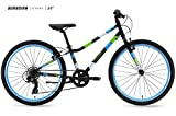 Guardian Bike Company Ethos Safer Patented SureStop Brake System 24' Kids Bike, Black/Blue/Green