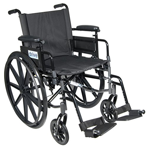 Drive Medical C418ADDASV-SF Cirrus Iv Lightweight Dual Axle Wheelchair With Adjustable Arms, Silver Vein
