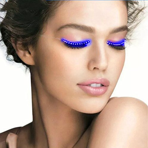 Hot Sale Waterproof LED Eyelashes - ZENUN Unisex Flashes Interactive Changing F. Lashes Luminous Shining Charming Eyelid Tape for Party Bar NightClub Concerts Birthday Gift Halloween - (Rave Halloween Costumes 2017)