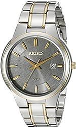 Seiko Men's SNE404 Solar Analog Display Japanese Quartz Two Tone Watch