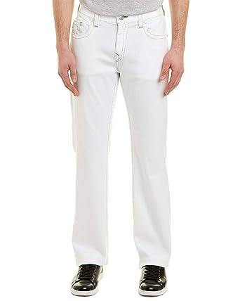 ac13c544b Amazon.com  True Religion Men s Straight Grey Runstitch Jeans in ...
