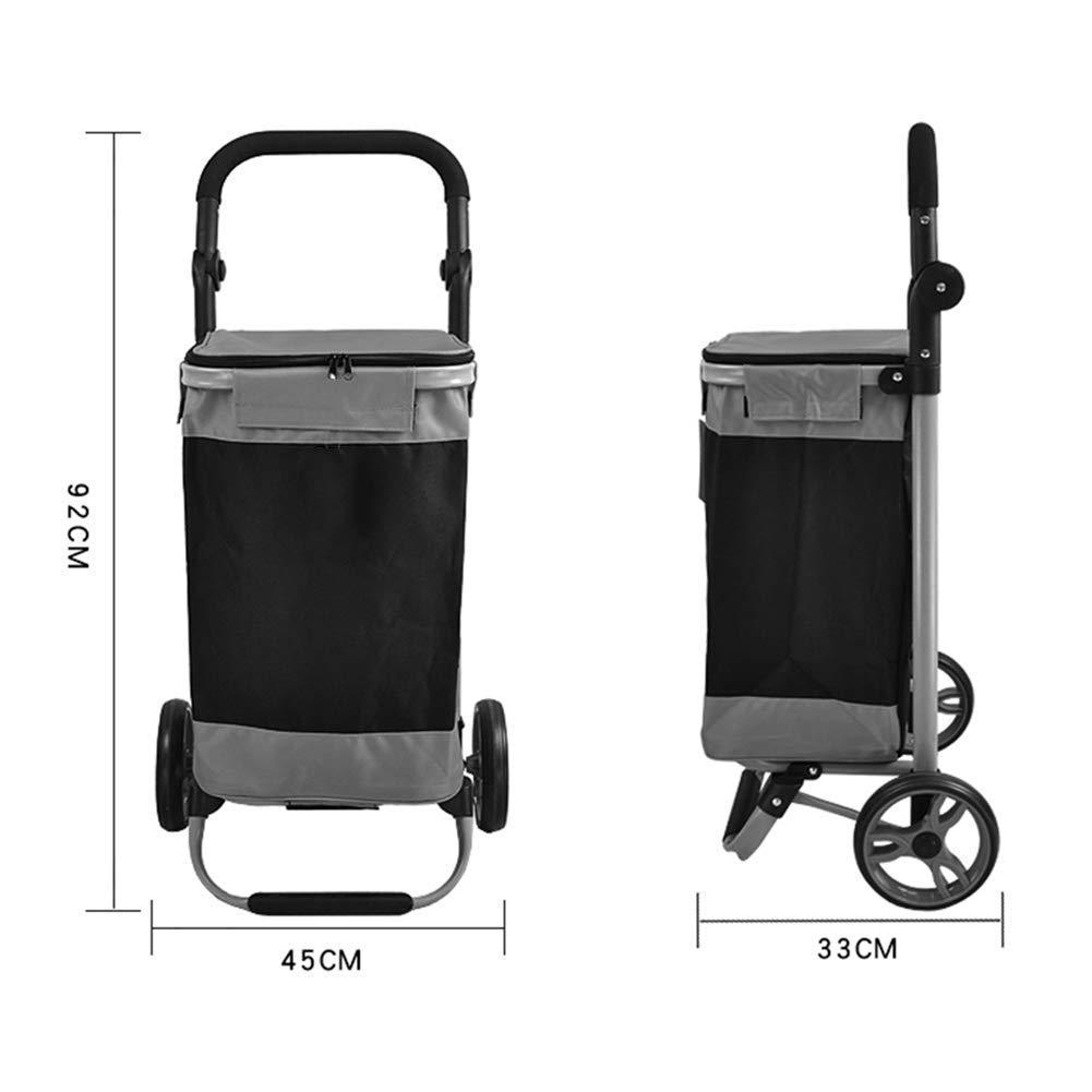 3555821a3a16 Amazon.com: SXRNN Folding Shopping Trolley Waterproof Oxford Cloth ...