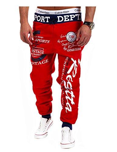 Homme Rouge Pantalon Letuwj Hop Hip De Sport pPxwfz