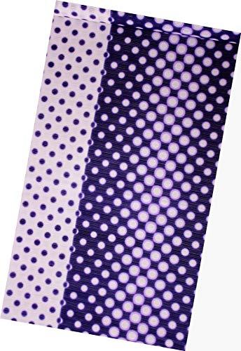 広げる衝突コース付与浴衣反物  綿絽 絽 教材用 女性用 ドット柄 紫?茄子紺色 日本製