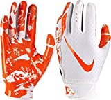 NIKE Youth Vapor Jet 5.0 Receiver Gloves 2018 (Chrome/Orange, Medium)