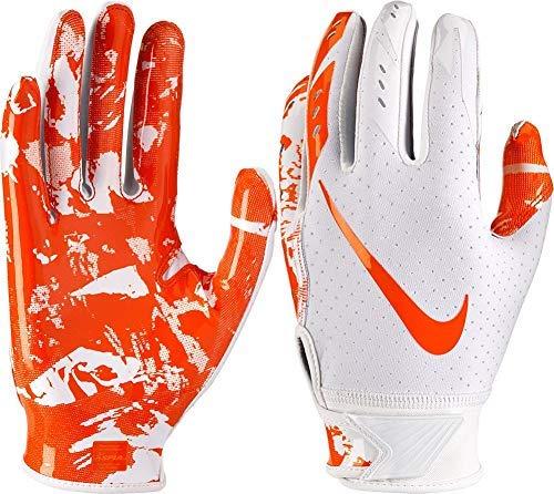 Nike Youth Vapor Jet 5.0 Receiver Gloves 2018 (White/Orange, Small)