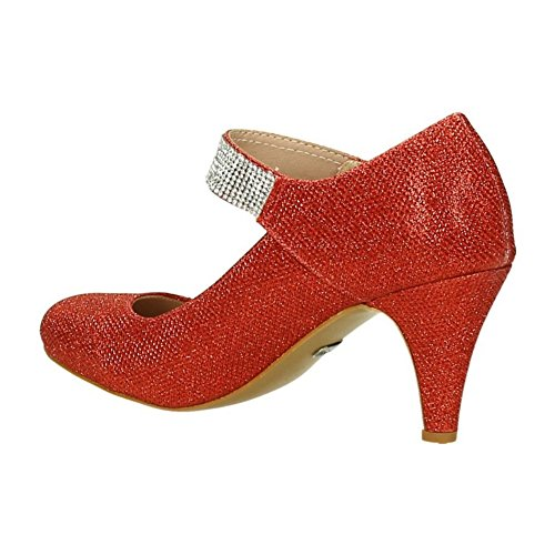 Strap Ankle Red WoMen Of Shoes King qwF0RBIR