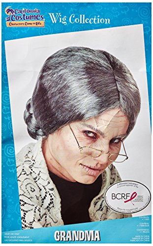 California Costumes Women's Grandma Wig,Grey,One Size