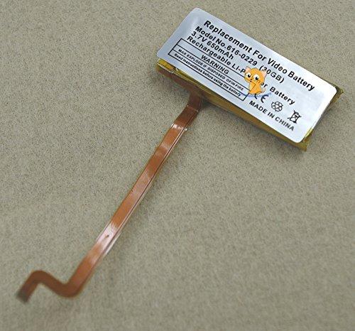 hkoem Internal Li-polymer 650mAh Battery Repair Replacement for iPod 6th Classic 80GB 120GB 7th Thin Classic 160GB