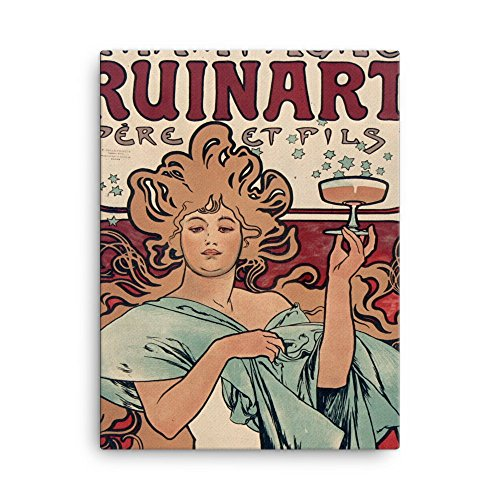 vintage-poster-champagne-ruinart-canvas-18x24