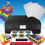 Edible Printer Bundle for Canon - Comes with Edible Ink Cartridges ,Cleaners & Frosting Sheets -Sweet Star Package