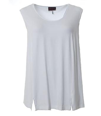 b0e12988b78be2 Sempre piu by Chalou Damen Lagenlook Top Rosa Weiß XXL Kurzgröße T-Shirt  Untershirt Unterhemd  Amazon.de  Bekleidung