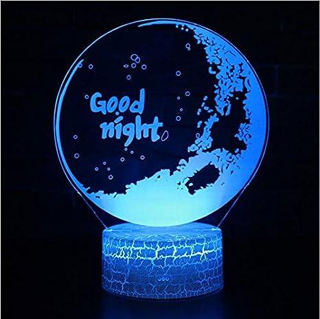 La Lampada Di Tema Di Buona Notte 3d Ha Condotto Il Regalo Di