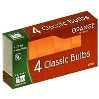Bombilla de cerámica NOMA /INLITEN-IMPORT 1074O-88 C7, naranja, paquete de 4