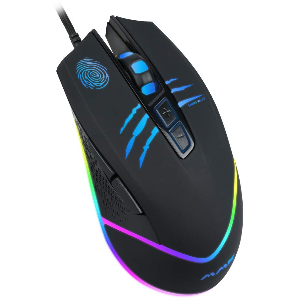 Wired Gaming Mouse USB Optical Mice with Chroma RGB Backlit7 Buttons1200 to