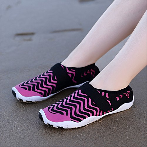 JACKSHIBO Water Sport Shoes, Quick-Dry Aqua Sock Athletic Lightweight Swim Skin Shoes For Beach Surf Yoga Pink
