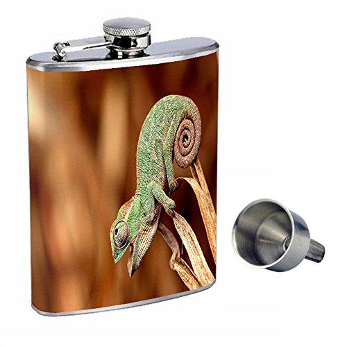 大特価!! Lizard Perfection with inスタイル8オンスステンレススチールWhiskey Flask with B017GNSGY0 Free Funnel Lizard d-002 B017GNSGY0, プラスインターナショナル:f8430740 --- newsdarpan.in