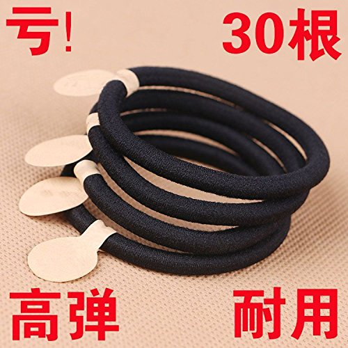 usongs Size pull head seamless thick hair ring hair rope rope durable black braids simple elastic sleeve head ornament