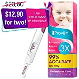 Pregnancy Test FMH-139 of iProven - Pregnant Test HCG Midstream 3 Test Strips - Test Pregnancy with Early Detection Test on Cycle Day One (Non Digital)