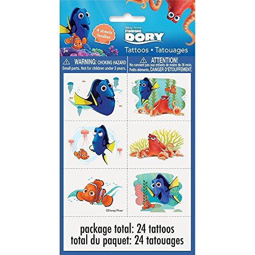 Finding Dory Tattoos, 24ct (Ocean Themed Tattoos)