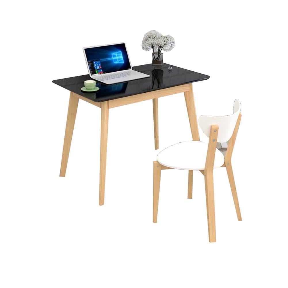 YIXINY 表 無垢材 家庭 デスクトップ コンピューター オフィス 表 シンプル 学生 学ぶ 多機能 表 (色 : 黒, サイズ さいず : 100x60x75cm) B07JH2WLHM 100x60x75cm|黒 黒 100x60x75cm
