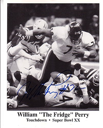 Signed Bears Hand (William Perry Signed Autographed 8 x 10 Chicago Bears Superbowl XX Touchdown Photo)