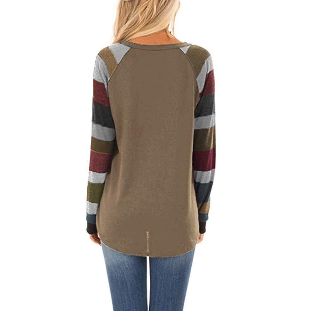 Blouse Chemisier Impression de Renne Paillettes Manche Longue Chic T-Shirt Tops Couture /à Carreaux Tunique D/éguisement V/êtement No/ël ZEELIY No/ël Sweatshirt Femme