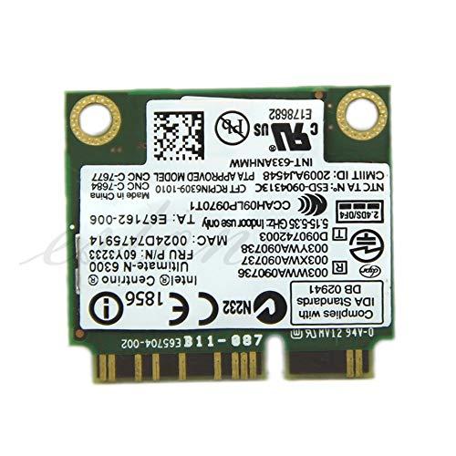 South-Dragon - Ultimate-N 6300 633ANHMW FRU 60Y3233 WiFi Wireless Card for IBM Thinkpad Intel C26 ()