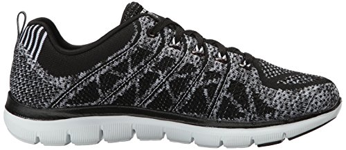 2 Flex white Gem Appeal Black Donna new 0 Allenatori Skechers dECqC