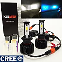 Motorcycle H7 CREE COB LED 6K White 10K Blue Conversion Kit Headlight Replace Xenon Low Lo High Hi Beam Lamp Light Bulb