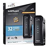 ARRIS Surfboard (32x8) DOCSIS 3.0 Cable Modem, 1.4 Gbps Max Speed, Certified for Comcast Xfinity, Spectrum, Cox, Cablevision & More (SB6190 Black) (Renewed)