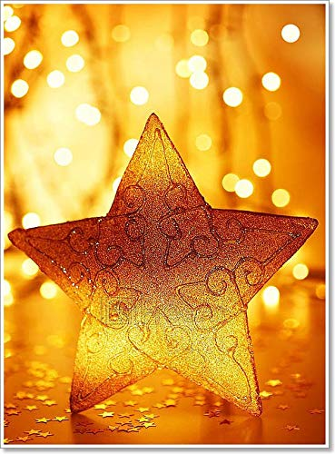 Barewalls Christmas Tree Star Decoration Paper Print Wall Art (60in. x 44in.)