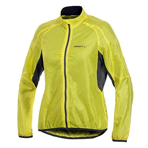 Craft Sportswear Women's Performance Bike Cycling Light Reflective Windproof Jacket: protective/riding/cooling/coat/outerwear, Yellow, Medium ()