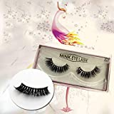 YNNB Magnetic Eyelashes, Dual Magnets Magnetic False Eyelashes, 3D Reusable Hand Made Extension Soft Magnetic Lashes No Glue for Natural Look (4 PCS/1 Pairs)