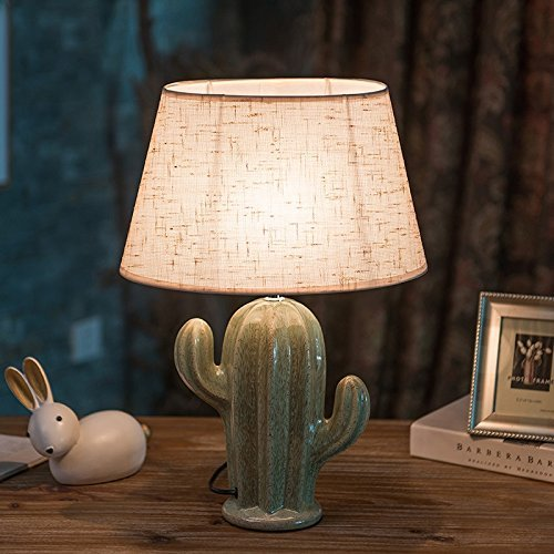 Cactus Lamp Table Lamp Home Decoration Cactus Decor Simple Design Desk Lamp for Living Room Bedroom,with Bulb by Dengbaba (Image #3)