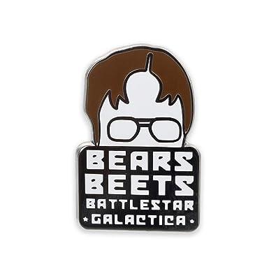 aadec301c4a Amazon.com  WIZARDPINS Bears Beets Battlestar Galactica Dwight Schrute Hard  Enamel Lapel Pin– 1 Pin  Jewelry