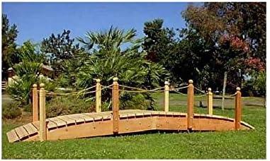 14 ft. Span jardín puente w Cuerda de ferrocarril (14 pies. Cuerda rieles): Amazon.es: Jardín